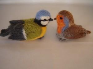 naaldvilt vogeltjes