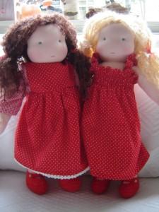 dametjes in het rood