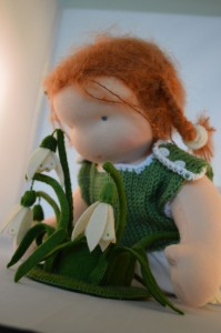 detail waldorf doll