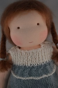 Dress up doll knitted dress