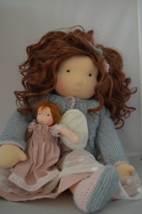 Waldorf doll with weft hair by poppelien